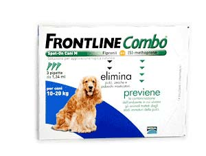 FRONTLINE COMBO SPOT ON CANI TAGLIA MEDIA 10-20 Kg. 3 PIPETTE